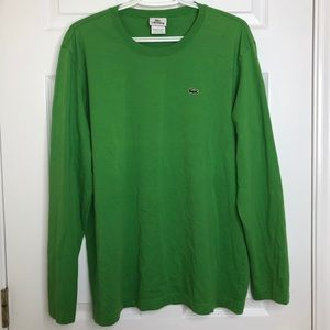 Lacoste Long Sleeved Shirt Green Size Extra Large